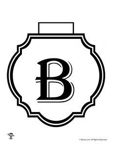 Printable Banner Letter B