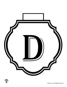 Printable Banner Letter D
