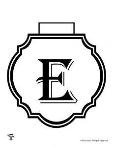 Printable Banner Letter E