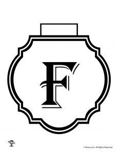 Printable Banner Letter F