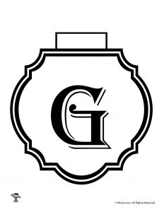 Printable Banner Letter G