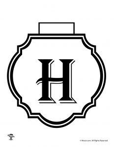 Printable Banner Letter H