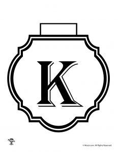 Printable Banner Letter K