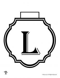 Printable Banner Letter L