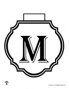 Printable Banner Letter M