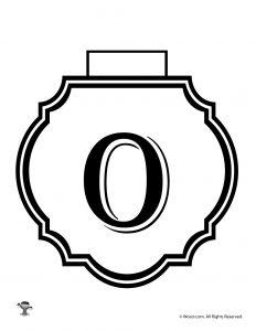 Printable Banner Letter O