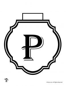Printable Banner Letter P
