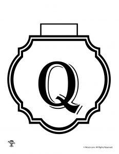 Printable Banner Letter Q