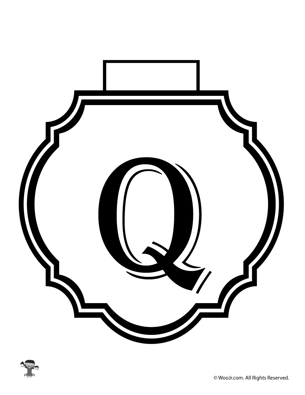 photograph relating to Letter Q Printable referred to as Printable Banner Letter Q Woo! Jr. Children Routines