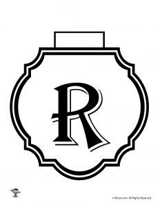 Printable Banner Letter R