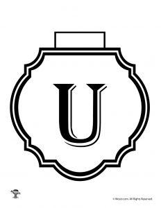 Printable Banner Letter U