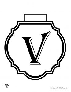Printable Banner Letter V