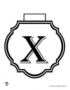 Printable Banner Letter X