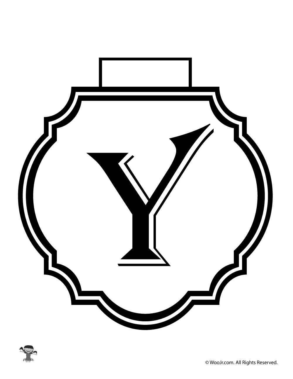 picture about Letter Y Printable named Printable Banner Letter Y Woo! Jr. Youngsters Routines