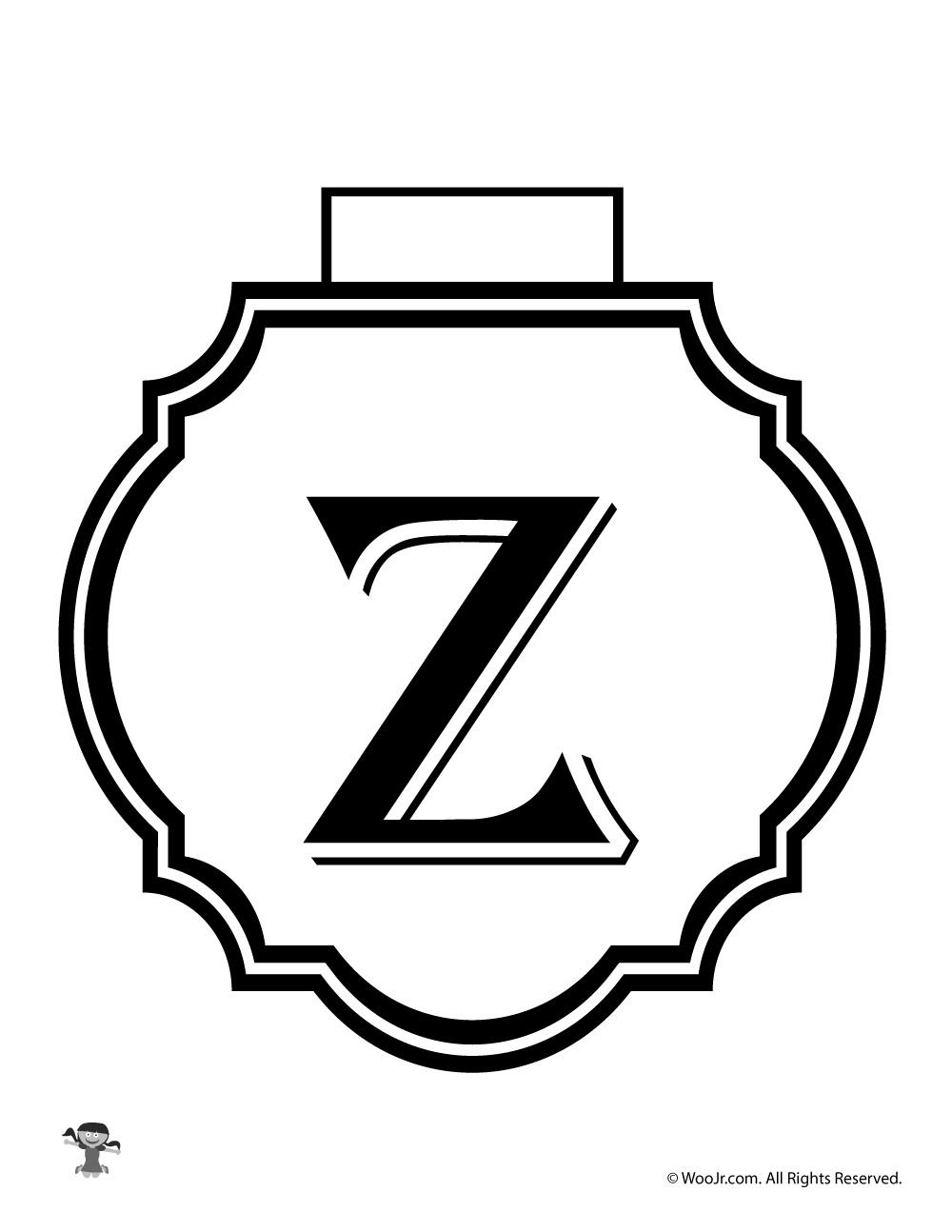 graphic regarding Letter Z Printable known as Printable Banner Letter Z Woo! Jr. Children Pursuits