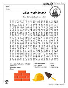 picture relating to Labor Day Word Search Printable named Labor Working day for Young children: Labor Stream Historical past, Lesson System
