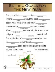 new years goals mad lib game