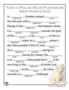 funny new years mad lib game printable