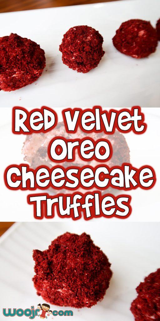 Red Velvet Oreo Cheesecake Truffles