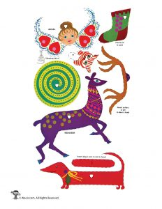 Vintage Reindeer and Christmas Animals Ornaments