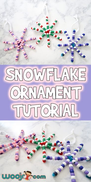 Easy Snowflake Ornament Craft