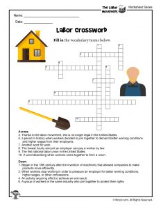Labor Day Crossword Puzzle