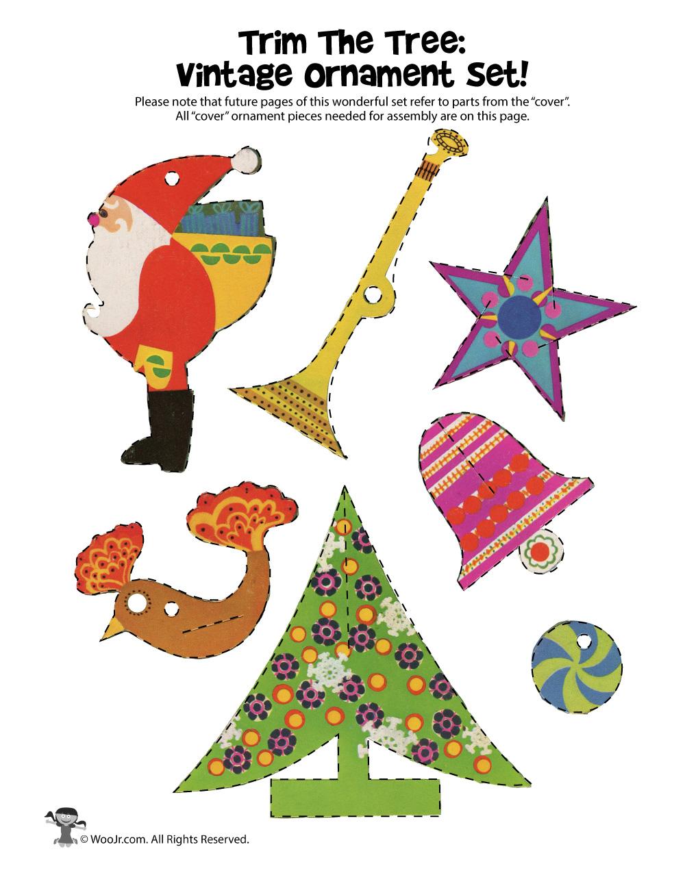 Vintage Printable Christmas Ornaments Woo Jr Kids Activities