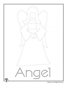 Christmas Letter Tracing - Angel