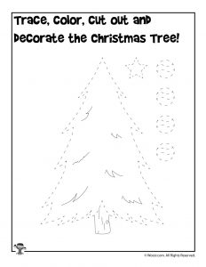 Decorate the Christmas Tree Printable Activity