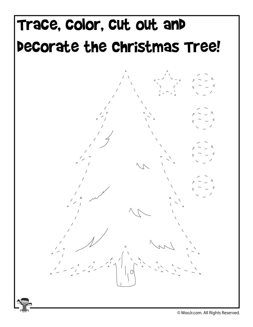 Decorate The Christmas Tree Printable Activity Woo Jr