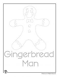 Christmas Letter Tracing - Gingerbread Man