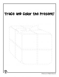 Christmas Present Tracing Printable Activity Page