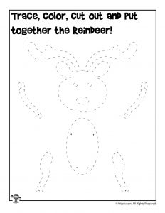 Reindeer Paper Toy