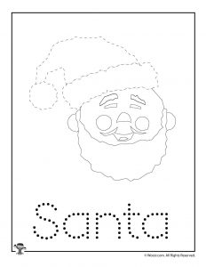 Christmas Letter Tracing - Santa Claus