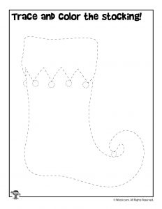 Trace the Christmas Stocking Activity