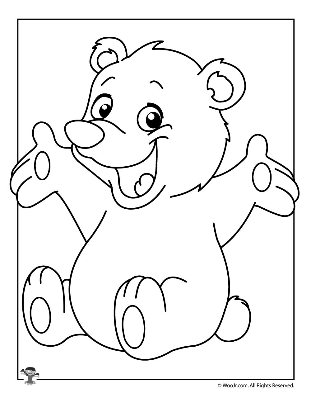 Cute Polar Bear Coloring Page Woo Jr Kids Activities