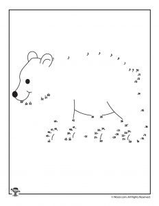 Polar Bear Dot to Dot Printable Activity