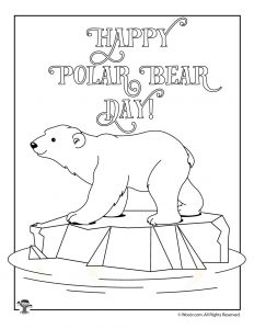 Polar Bear Day Coloring Page