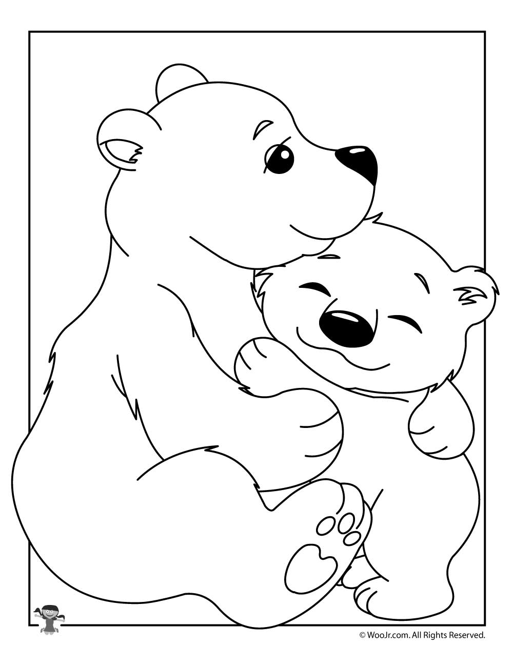 Baby Polar Bear Coloring Sheet Woo Jr Kids Activities