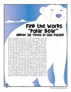 Polar Bear Word Search