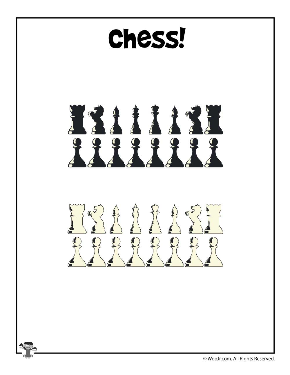 photo about Printable Chess Pieces called Printable Chess Elements Woo! Jr. Small children Actions