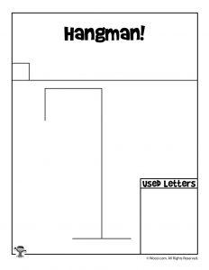 Printable Hangman Game