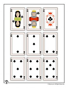 Printable playing cards - clubs & spades
