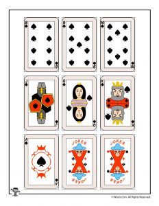 Printable playing cards - spades & jokers