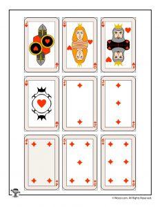 Printable playing cards - hearts and diamonds