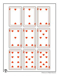 Printable playing cards - hearts