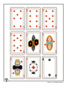 Printable playing cards - diamonds & clubs