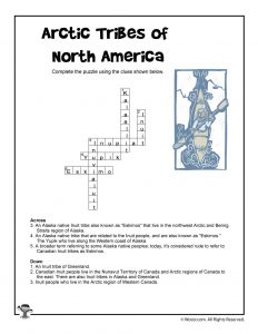 Arctic Tribes of North America Crossword Puzzle - ANSWER KEY