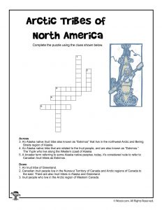 Arctic Tribes of North America Crossword Puzzle