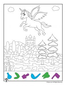 Magical Unicorn Hidden Objects Activity Page